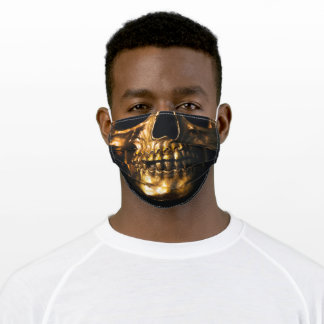Golden Skull Adult Cloth Face Mask