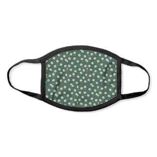 Golf Balls and Tees on Green Poly Cotton Face Mask