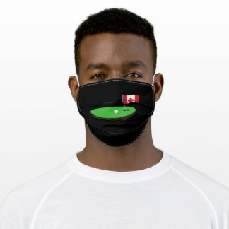 Golf Canada Flag Hole In One Adult Cloth Face Mask