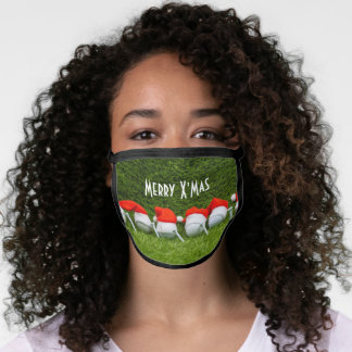 Golf Christmas with hat All-Over Print Face Mask