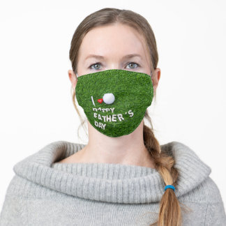 Golf father's day adult cloth face mask
