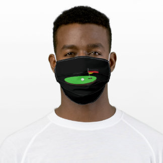 Golf Germany Flag Hole In One Adult Cloth Face Mask