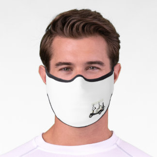 Golf Golfing Golf Cart Clubs Premium Face Mask