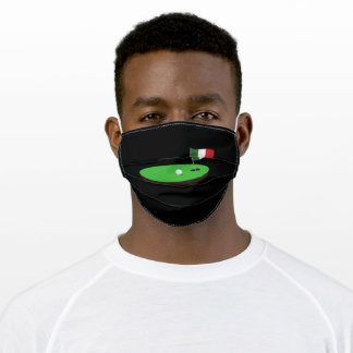 Golf Italy Flag Hole In One Adult Cloth Face Mask