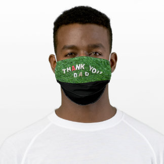 Golf lthank you  dad happy fathers day adult cloth face mask