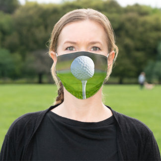 Golf Player Country Club Coach Sports Fan Golf Tee Adult Cloth Face Mask