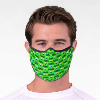 Golf Sports Theme Green Men's Adult Pattern Cool Premium Face Mask