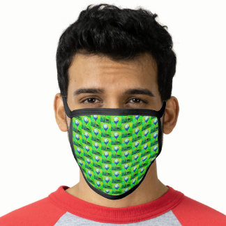 Golf Sports Theme Green Men's Face Mask
