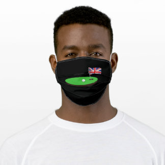 Golf UK Flag Hole In One Adult Cloth Face Mask