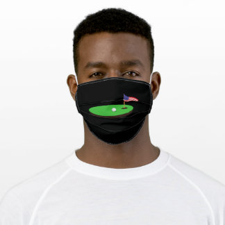 Golf USA Flag Hole In One Adult Cloth Face Mask