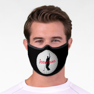 Golfer Design Premium Face Mask