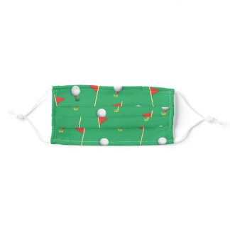 Golfer's Delight Golf Balls And Pin Flags Adult Cloth Face Mask