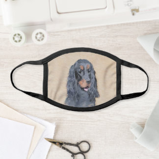 Gordon Setter Painting - Cute Original Dog Art Face Mask
