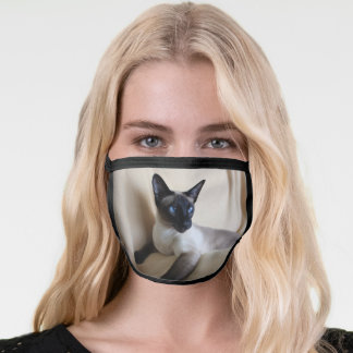 Gorgeous Siamese Cat Face Face Mask