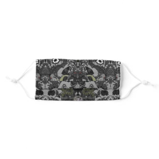 Goth Decaying Mansion Damask Adult Cloth Face Mask
