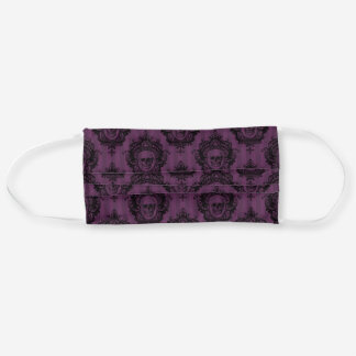 Gothic Purple Skulls Pattern Cloth Face Mask