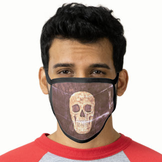 Gothic Skull Head Creepy Black Brown Grunge Cool Face Mask