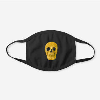 Gothic Skull Neon Yellow Cool Creepy Black Cotton Face Mask