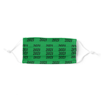 Graduation 2021 green and black adult cloth face mask