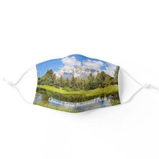 Grand Teton National Park Mountains Adult Cloth Face Mask