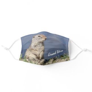 Grand Teton National Park Squirrel Adult Cloth Face Mask