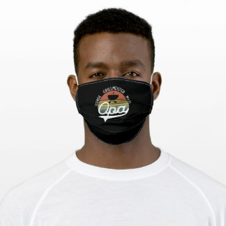Grandpa Legend Grill Master Myth Father's Day Adult Cloth Face Mask