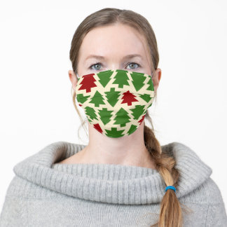 Graphic Christmas Tree Print Adult Cloth Face Mask