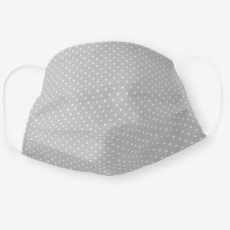 Gray and White Tiny Dots Pattern Cloth Face Mask
