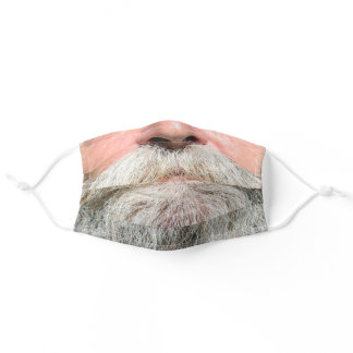 GRAY BEARD GRANDPA MASK FOR HIM