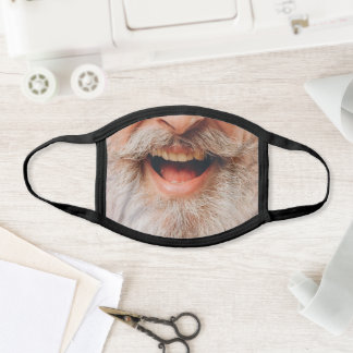 Gray Bearded Man Face Mask