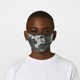 Gray Camouflage Premium Face Mask
