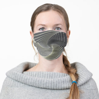 gray yellow twirl adult cloth face mask