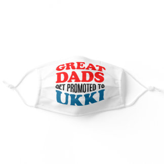 Great Dads Promoted To Ukki Finnish Grandfather Adult Cloth Face Mask