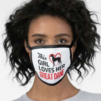 Great dane, This girl loves her great Dane Face Mask