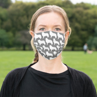 Great Pyrenees Dog Breed Silhouettes Pattern Adult Cloth Face Mask