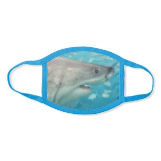 Great White Shark Teeth Mouth Smile Portrait Face Mask