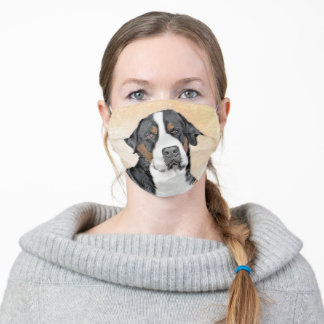 Greater Swiss Mountain Dog Painting - Original Art Adult Cloth Face Mask