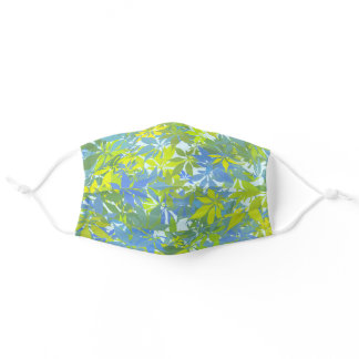 Green and Blue Chestnut Leaves Adult Cloth Face Mask
