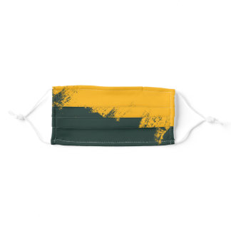 Green and Gold Face Mask