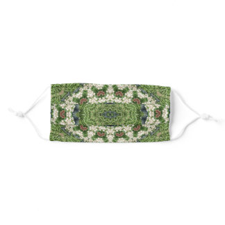 Green and White Farmer's Market Vegetable Adult Cloth Face Mask