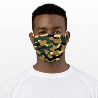Green Army Military Camouflage Adult Cloth Face Mask