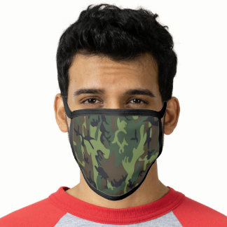 Green Army Style Camouflage Face Mask