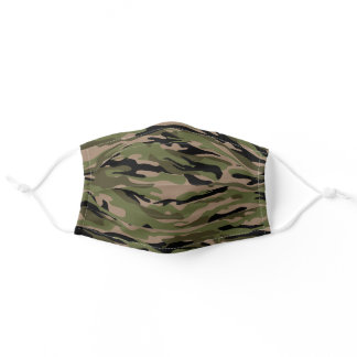 Green camo night cool camouflage pattern for him adult cloth face mask