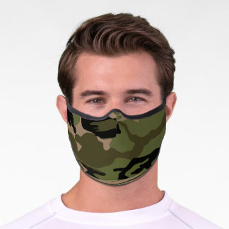 Green Camo Premium Face Mask