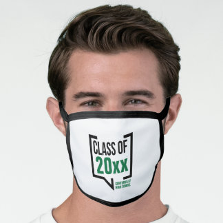 Green Class Year Speech Bubble Face Mask
