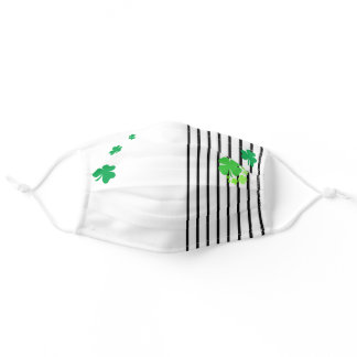 Green Clover Leaves Clovers Lucky Charm Symbols Adult Cloth Face Mask
