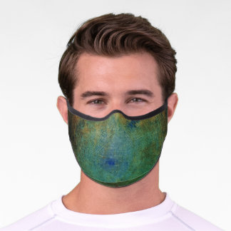Green Distressed & Etched Premium Face Mask