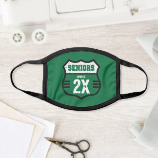 Green Distressed Seniors Road Sign Face Mask