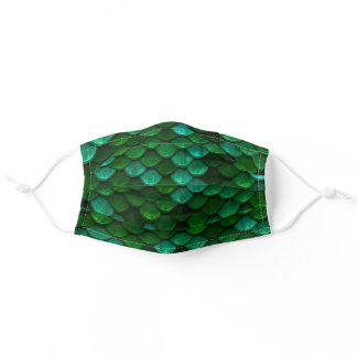 Green Dragon Scales Adult Cloth Face Mask