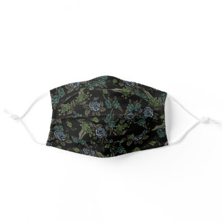 Green Earth Flowers Adult Cloth Face Mask